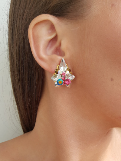 Crystal Earrings 279a.