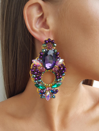 Crystal Earrings 693
